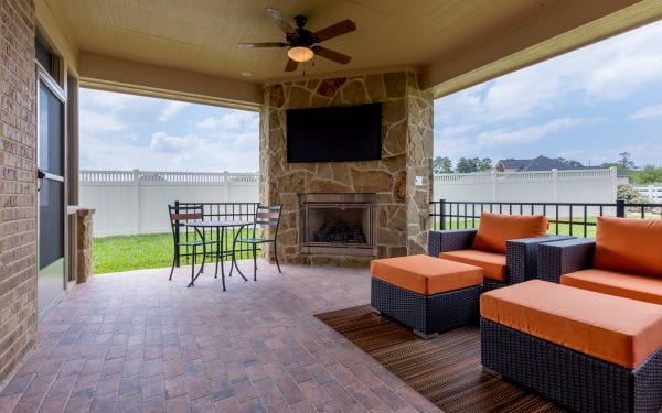 55+ Home Backyard Entertainment Space