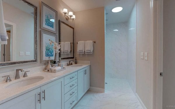 Double Vanity with Walk in Shower