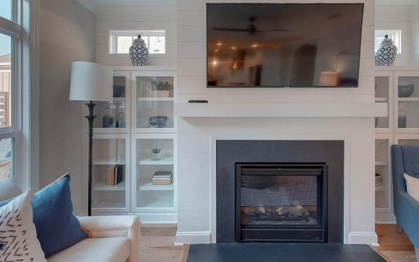 55+ Adult Community White Fireplace