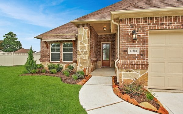 Villas at White Oak Brick Home with Stone Features
