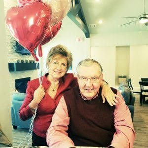Valentines in waterfront retirement communities