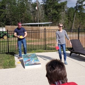 Cornhole in active adult communities
