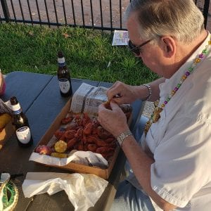Crawfish boil at Villas at White Oak