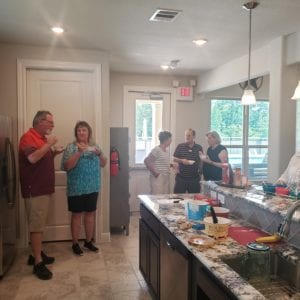 Ice Cream Social in new homes in conroe texas