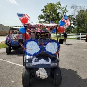 Retirement community resident parade
