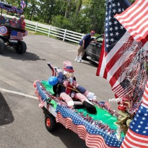 Retirement community neighborhood parade