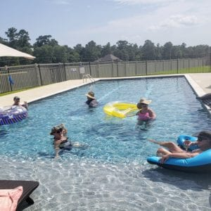 Pool in Lake Conroe community