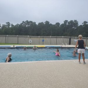 Water Aerobics in retirement community